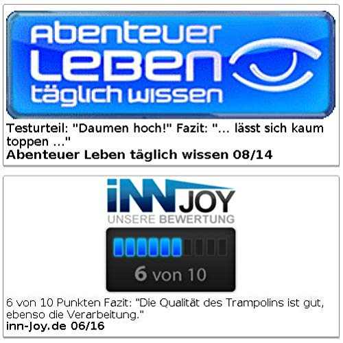 infactory Wassertrampolin: 4in1-Trampolin für Wasser und Garten, Ø 193 cm (Pool Trampolin)