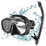 KUYOU Premium 2019 Schnorchelset Erwachsene Taucherbrille mit Schnorchel Tauchset gehärtete Anti-Beschlag Gläser...