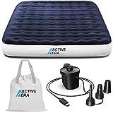Active Era Luxus Camping Doppel Luftbett mit elektrischer Luftpumpe - Luftmatratze für 2 Personen mit tragbarer Akku...