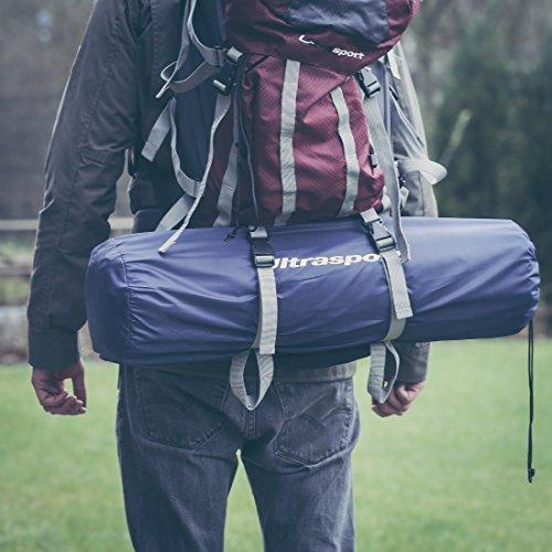 Ultrasport selbstaufblasbare Isomatte, Luftmatratze selbstfüllend, fürs Zelten, Outdoor Liegematte leicht und...
