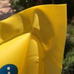 Luftmatratze gelb Schweißnähte