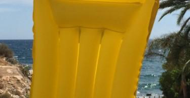 Komfort Luftmatratze gelb